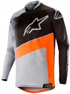 Bluza off-road Alpinestars RACER SUPERMATIC Light grey/Orange
