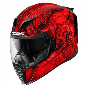 Kask ICON Airflite Krom Red