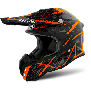 Kask AIROH TERMINATOR OPEN VISION CARNAGE ORANGE GLOSS