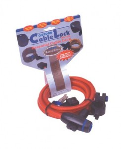 Oxford Cable Lock Blue