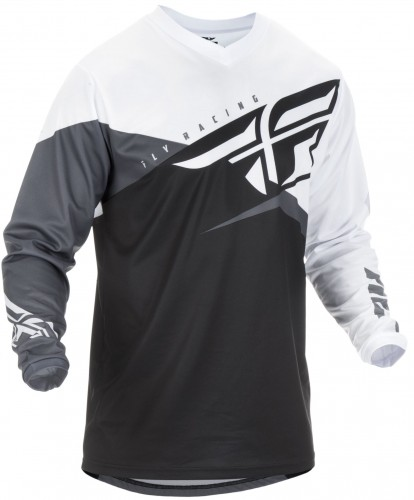 Bluza off-road Fly Racing F-16 Black/White