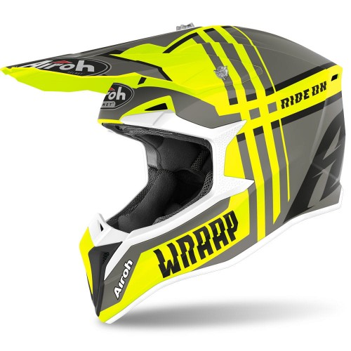 Kask Airoh WRAAP BROKEN YELLOW MATT