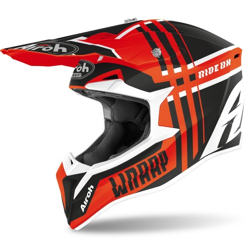 Kask Airoh WRAAP BROKEN ORANGE MATT