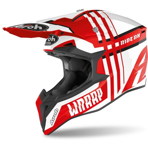 Kask Airoh WRAAP BROKEN RED GLOSS