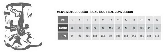 rozmiary butów off-road